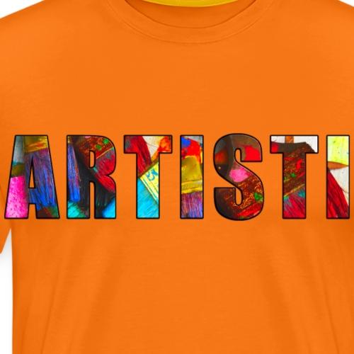 Artisti, värikäs - Miesten premium t-paita