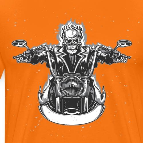 Hellracer Biker Skull Motorrad - Männer Premium T-Shirt
