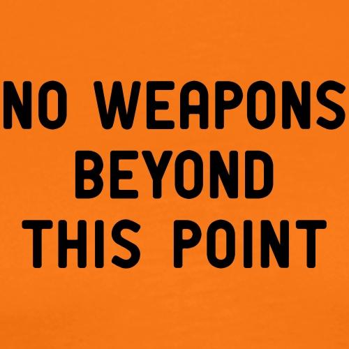 no weapons Waffe Pistole Jagd Gewehr Jäger Polizei - Men's Premium T-Shirt