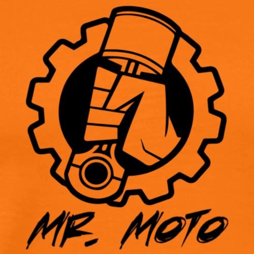 Mr. Moto Logo Schwarz mit Schriftzug - Männer Premium T-Shirt