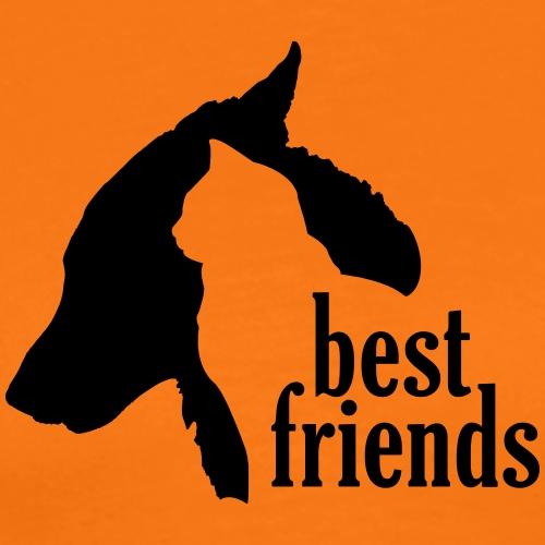 Hunde Katzen Tiere Freundschaft Bündnis Silhouette - Men's Premium T-Shirt