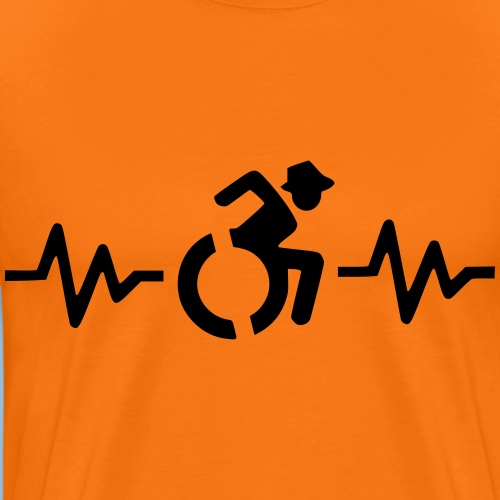 Wheelchairheartbeat1 - Mannen Premium T-shirt