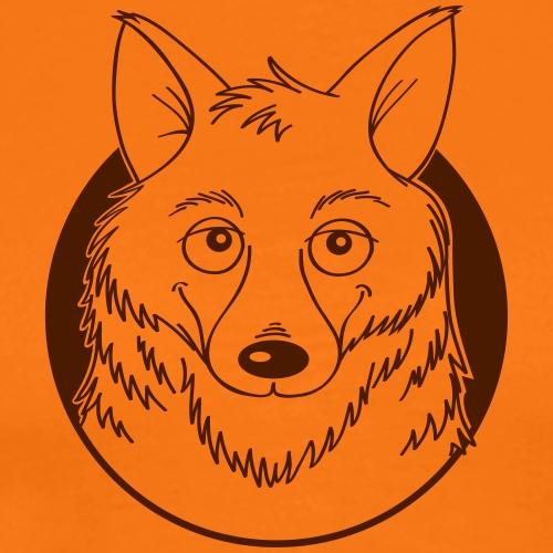 warmherziger Wolf - Männer Premium T-Shirt