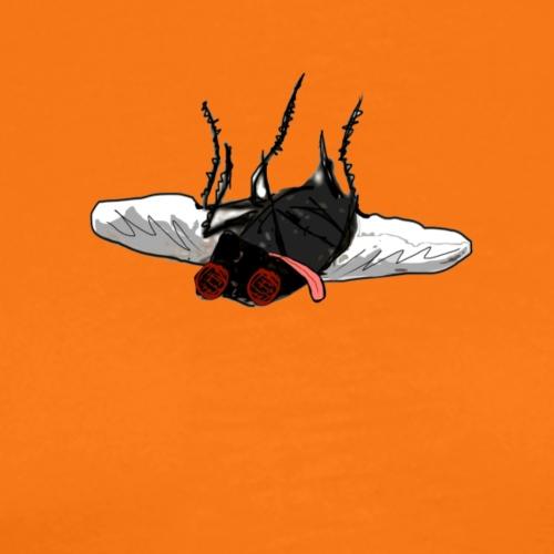 No flies on me, humorous & gross dead fly design - Men's Premium T-Shirt