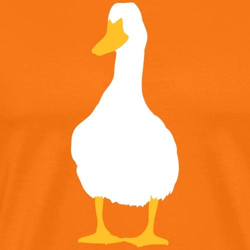 Duck - Premium-T-shirt herr