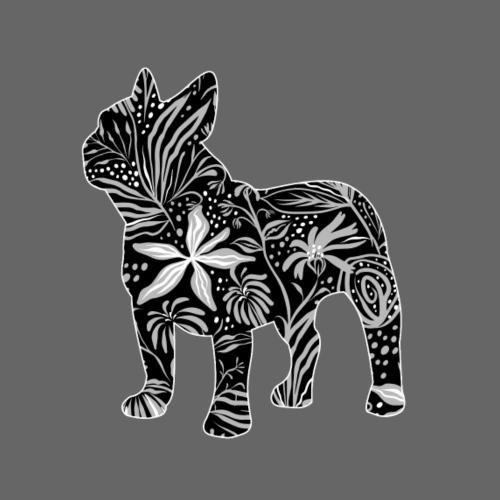 Flower Frenchie - Miesten premium t-paita