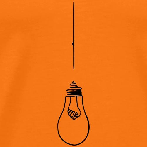 Lampe Glühbirne Krawatte - Männer Premium T-Shirt