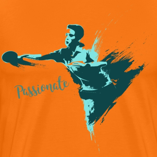Passionate on winning table tennis champ - Männer Premium T-Shirt