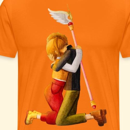 Sakura et Syaoran - Câlin - T-shirt Premium Homme