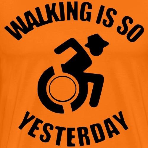 Walking is so yesterday 001 - Mannen Premium T-shirt
