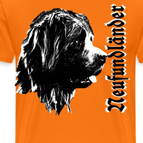 Neufundländer,großer Hund,Hundekopf,Hundebesitzer - Männer Premium T-Shirt