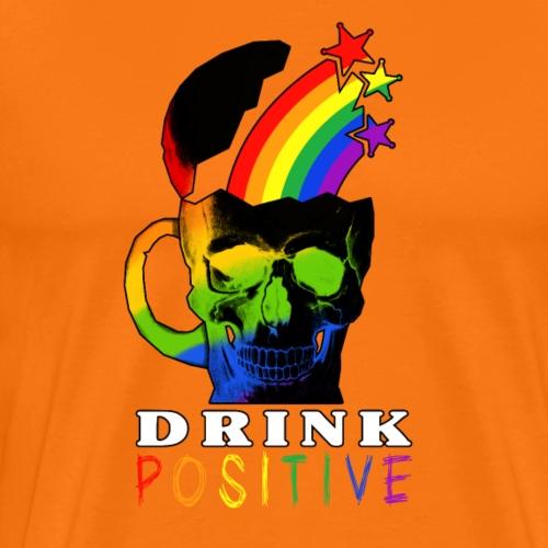 Rainbow Skull Drink - Maglietta Premium da uomo