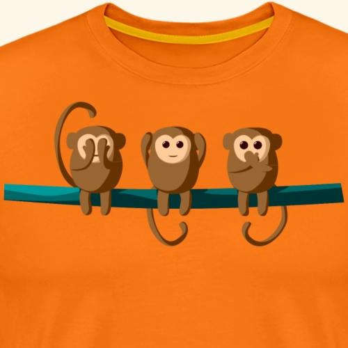 3 Affen - Männer Premium T-Shirt
