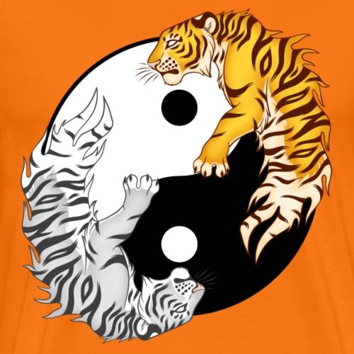 Yin & Yang Tigers - Koszulka męska Premium
