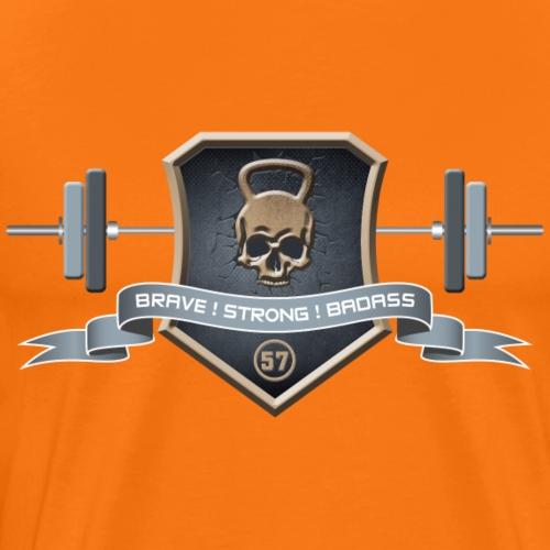 Logo Brave Strong Badass - T-shirt Premium Homme