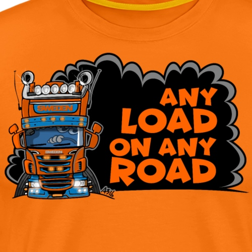 0323 any load on any road - Mannen Premium T-shirt