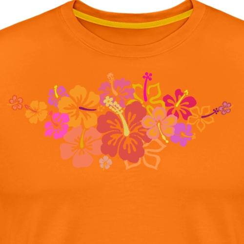 HIBISKUS orange - Männer Premium T-Shirt