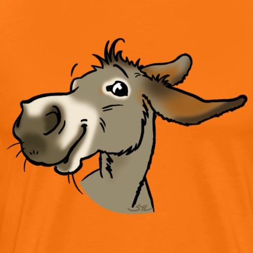 Ane gris souriant - T-shirt Premium Homme