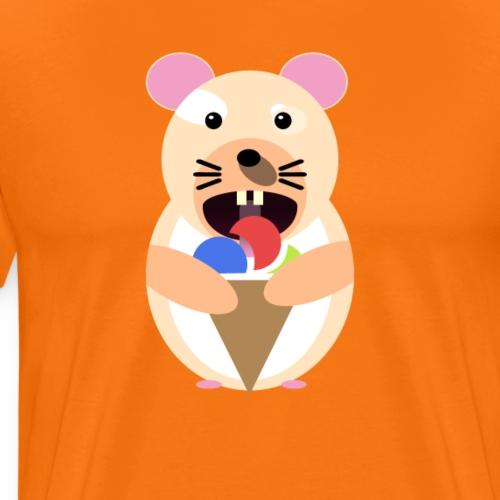 Icecream Hamster - Männer Premium T-Shirt