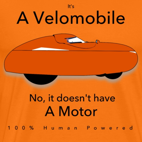 it s a velomobile black text - Miesten premium t-paita