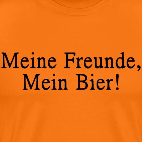 Meine Freunde, Mein Bier schwarz - Männer Premium T-Shirt