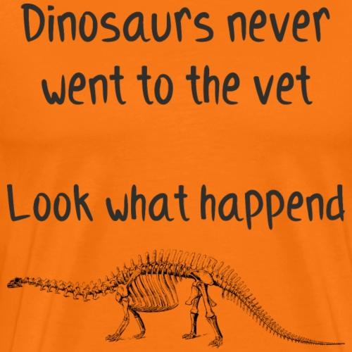 Dinosaurier Tierarzt Veterinär DoktorArzt Geschenk - Männer Premium T-Shirt