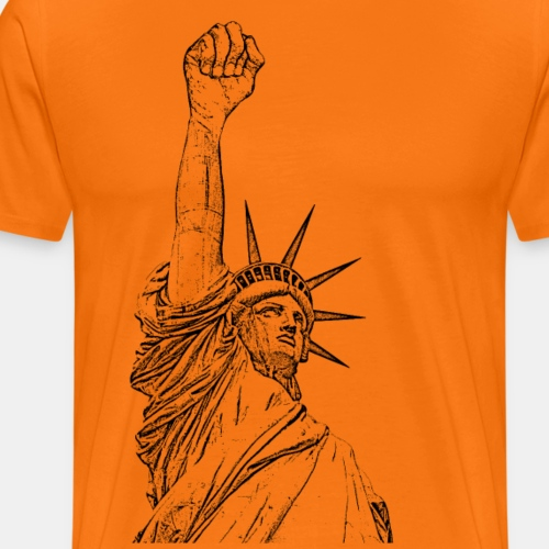 Statue of Liberty, fist held high - Camiseta premium hombre