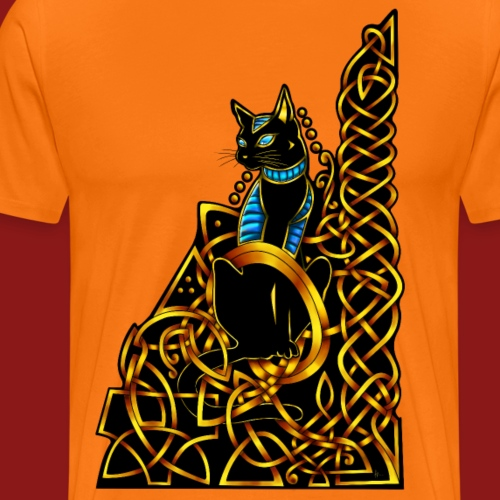 Celtic Cat - sitting - Men's Premium T-Shirt
