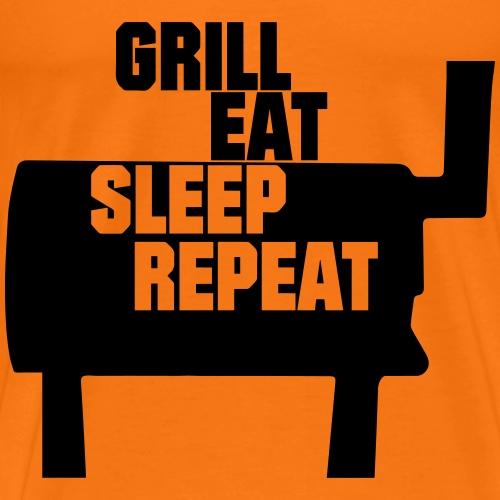 grill_eat_sleep_repaet - Männer Premium T-Shirt