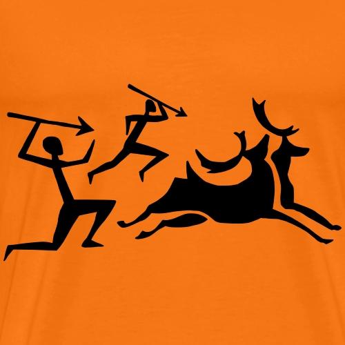 Höhlenmalerei Jäger - Männer Premium T-Shirt