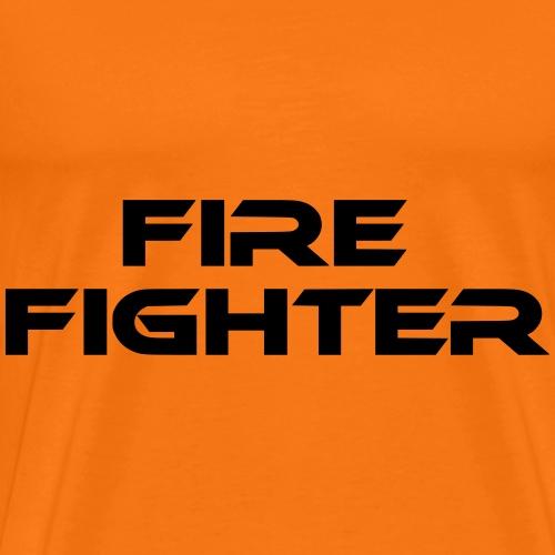 firefighter feuerwehr schriftzug - Männer Premium T-Shirt