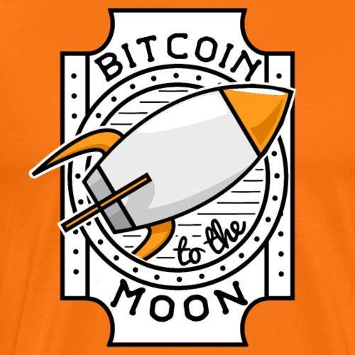 Bitcoin to the Moon - Männer Premium T-Shirt