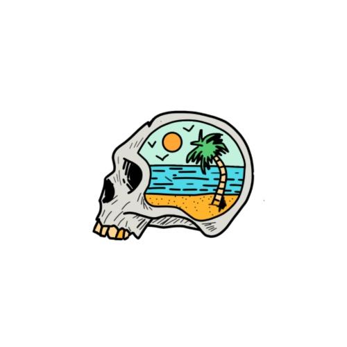 skull design - Mannen Premium T-shirt