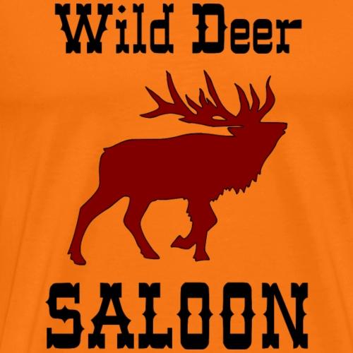Wild Deer Saloon Western Design - Männer Premium T-Shirt