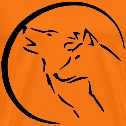 zwei wölfe im Mondschein - Männer Premium T-Shirt