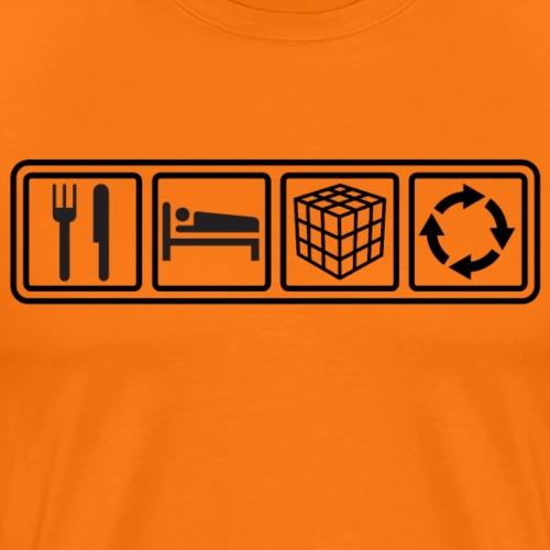 Eat, Sleep, Cube, Repeat - Men's Premium T-Shirt