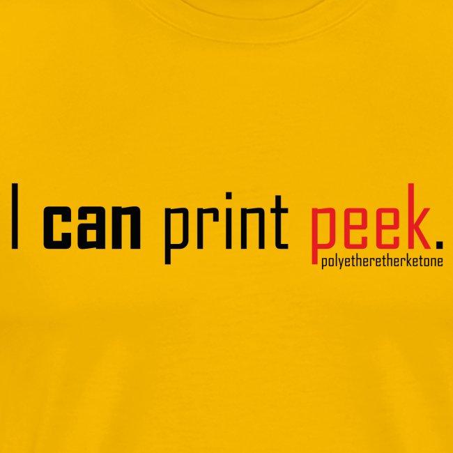 I can print peek.