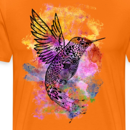 Spirituelles Krafttier-Shirt Kolibri - Männer Premium T-Shirt