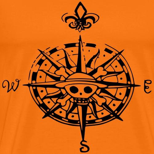 op compas Kompass - Männer Premium T-Shirt