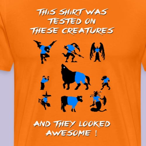 CV Tested on Creatures (Blue) - Premium-T-shirt herr