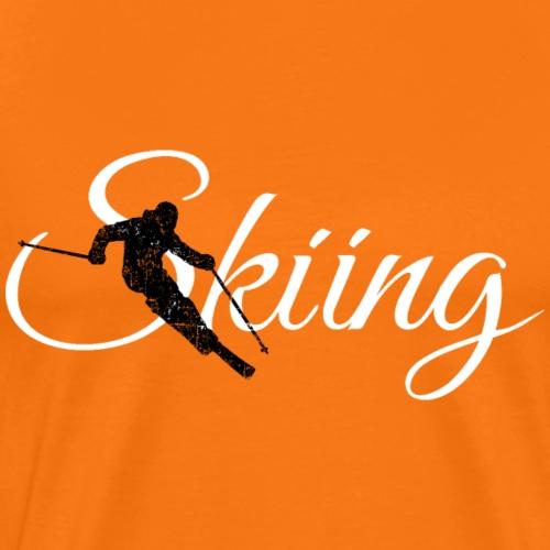 Skiing Skifahrer (Weiß) Wintersport Apres-Ski - Männer Premium T-Shirt