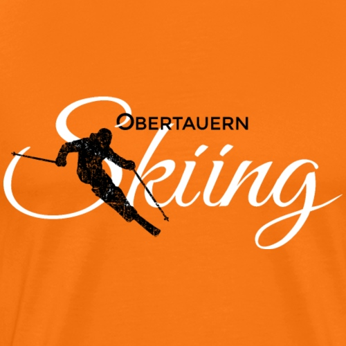 Obertauern Skiing (Weiß) Apres-Ski Skifahrer - Männer Premium T-Shirt