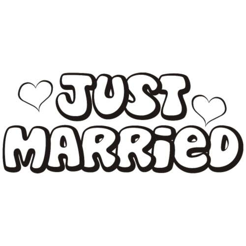 JUST MARRIED Partner Namen schwarz - Männer Premium T-Shirt