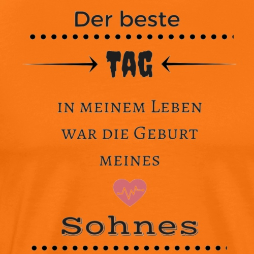 geburt sohn - Männer Premium T-Shirt