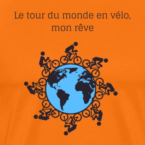 Le tour du monde en vélo - T-shirt Premium Homme