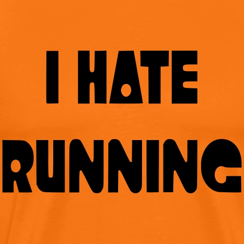 I hate running 002 - Mannen Premium T-shirt