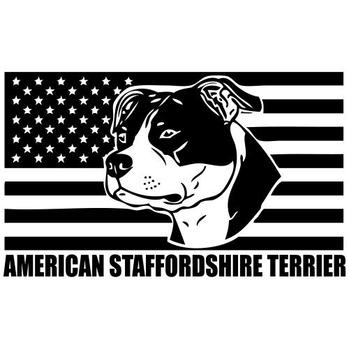 American Stafford © - www.dog-power.nl - Mannen Premium T-shirt