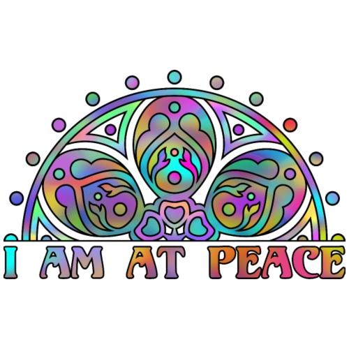 MANDALA I AM AT PEACE 3 - Männer Premium T-Shirt