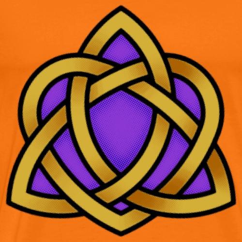 Irish Triquetra Heart Celtic Knot - Men's Premium T-Shirt