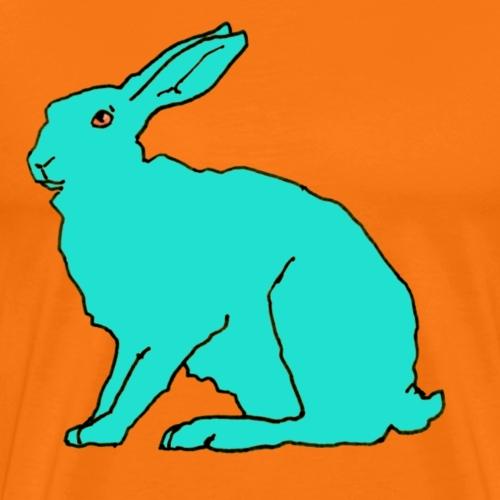 türkiser Hase - Männer Premium T-Shirt